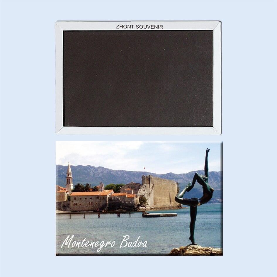 Montenegro Budva Europes Mediterranean 22550 gifts for friends Landscape Magnetic refrigerator Travel souvenirs