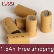 1500mAh 10Pcs Discharge rate 15C,battery cell high power battery cell,power tool battery,Power Cell,Ni cd,rechargeable battery,
