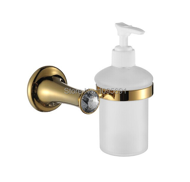 Bathroom Accessories High End aliexpress : buy maideer luxurious high end brass + crystal +
