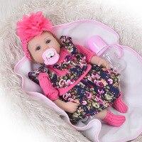 Реалистичные ребенка игрушка Reborn Baby Doll с ткани тела 17 дюймов популярные детские игрушки для детей рождественские подарки живые возрождаетс