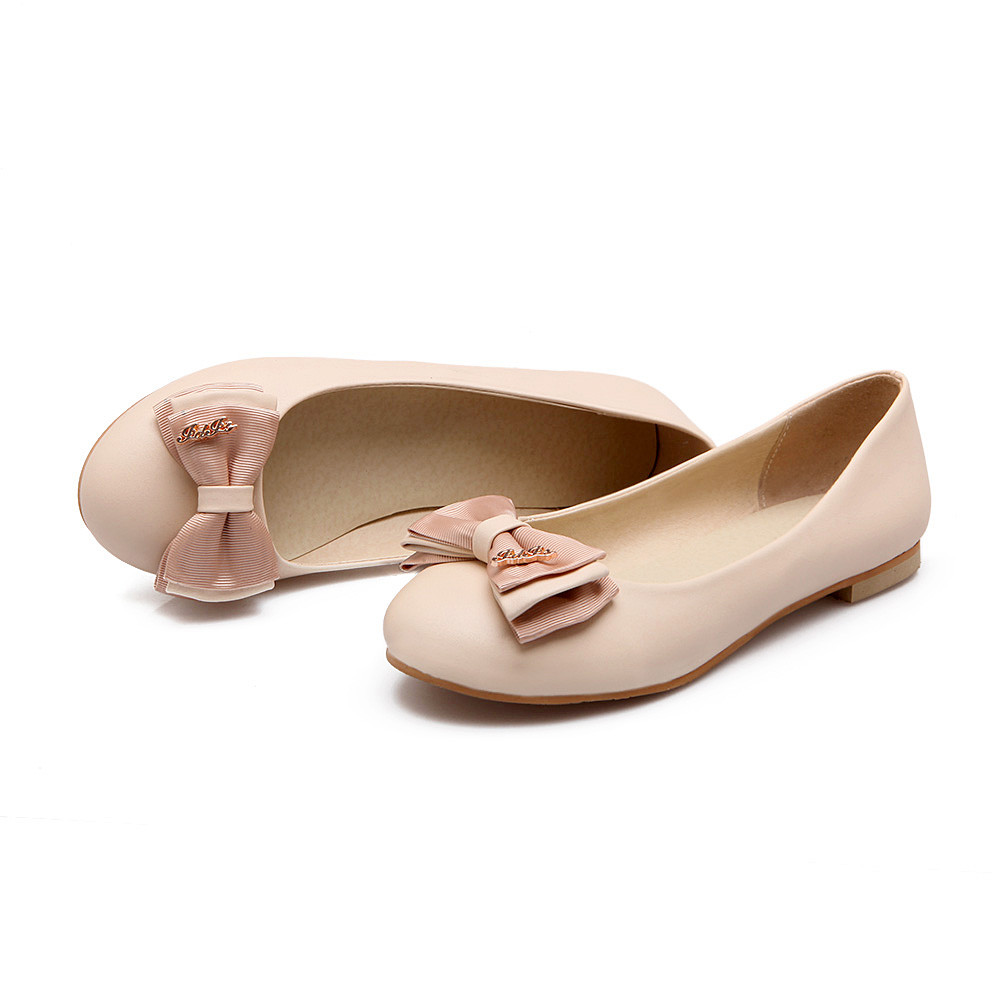 casual round toe shallow comfortable flats shoes
