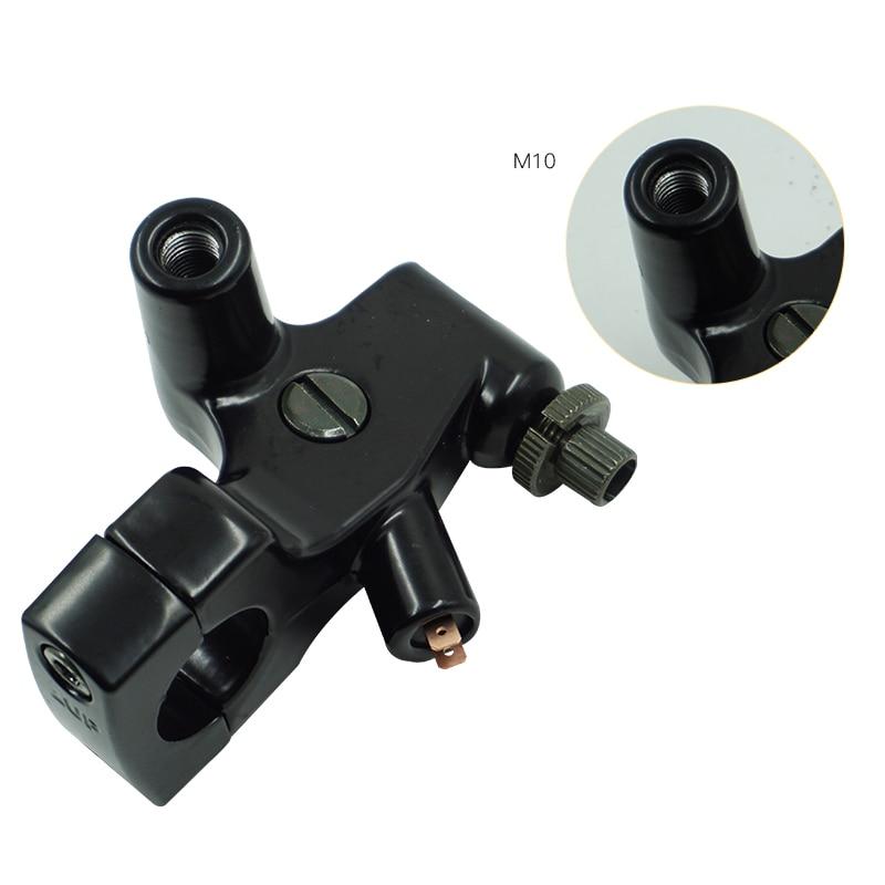 color negro palanca de embrague para Honda Shadow VT600 750 1100 VF750 Soporte para espejo de motocicleta de 1 pulgada 25 mm de LANGRMS para montar en el lado izquierdo