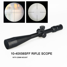 Tactical 10-40X56SFF Rifle Hunting Scope With Scope Mount Cover For Hunting Shooting HS1-0284 цена 2017