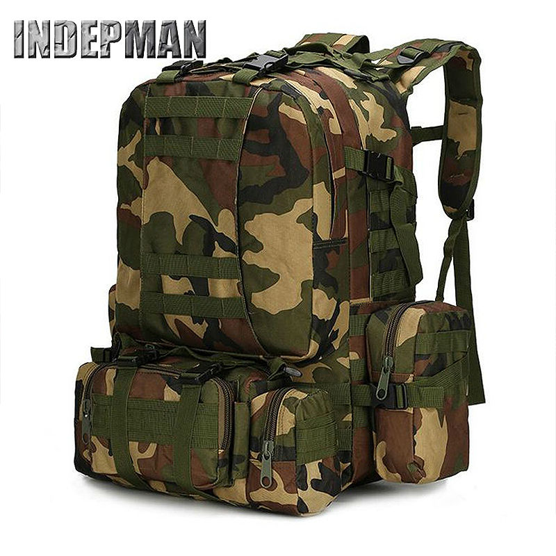 Travel Bag 2016 Camouflage Army Backpack Large Capacity High Quality Waterproof Nylon Military Mochila Casual Durable Back Pack 2017 hot sale men 50l military army bag men backpack high quality waterproof nylon laptop backpacks camouflage bags freeshipping