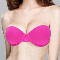 Ladies Secret Sexy Lingerie Brassiere Half Cup Bra Women Seamless Invisible Bras Sutian Female Underwear Strapless