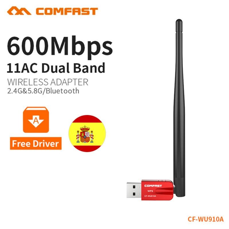 CF-WU910A 5.8G USB Wireless WiFi Adapter 600Mbps Wifi Receiver Network Bluetooth