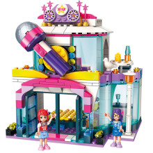 City Girls Princess KTV Star Dream Stage Building Blocks Sets Bricks Model Kids Classic Compatible With Legoings Friends hot new girl city princess villa windsor castle building blocks sets bricks classic model kids gift toy legoings friends