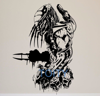 Film Predator Wandaufkleber Retro Action Film Vinyl Aufkleber Room Decor Kunstwand H82cm x W57cm