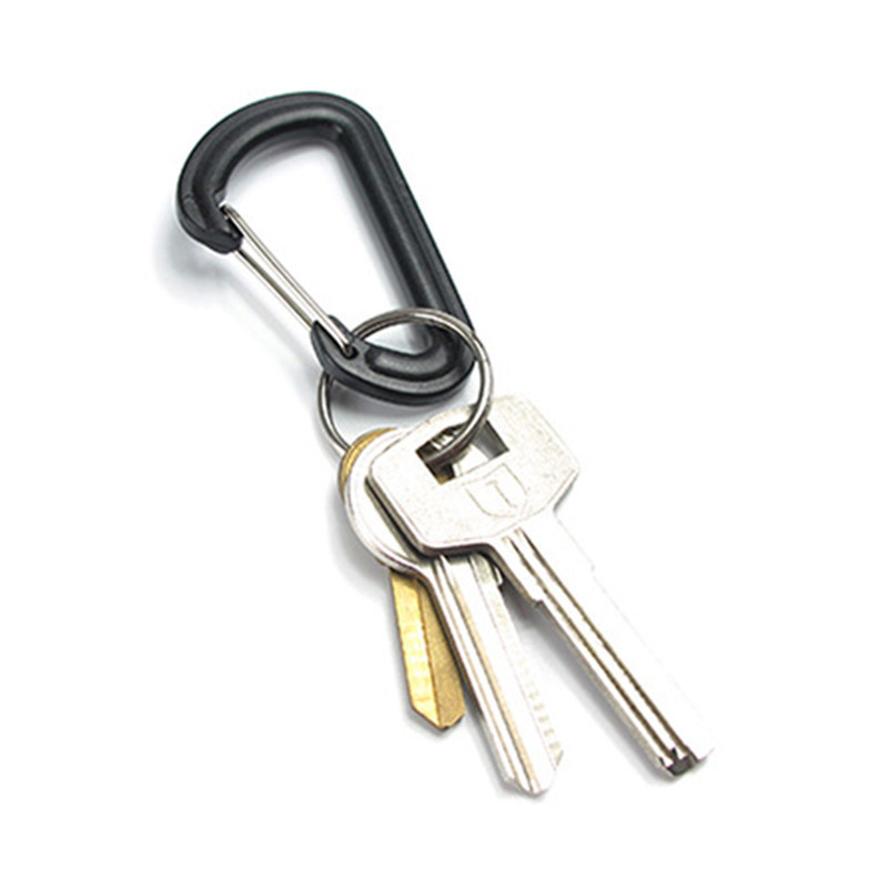 2pcs Carabiner Keychain Snap Hook Mountaineering Buckle for Bag Backpack