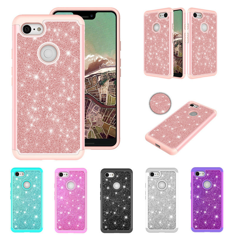 buy popular 96fad 79be6 Bling Pink Phone Case for Google Pixel 3 3XL Case Coque Google Pixel 3 XL  Case Hybrid Shiny bag Shell for Pixel3 Cover Pixel3XL