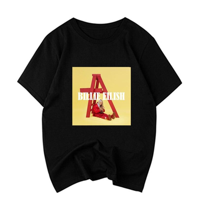 Billie Eilish Ocean Eyes T Shirt Men Fashions Billie Eilish Portrait Black Cotton O Neck Streetwear Casual High Quality T shirt in T Shirts from Men 39 s Clothing