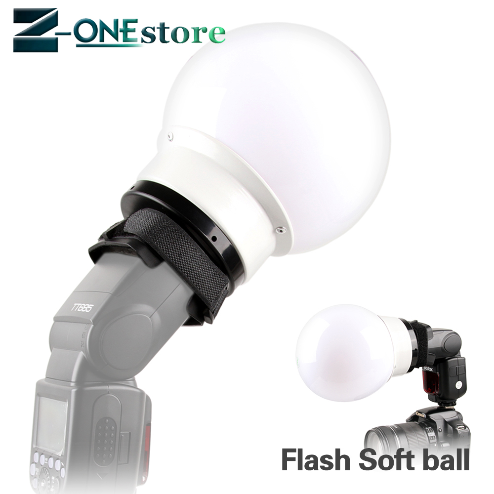5.9'/15cm Universal Flash Soft Ball Diffuser Ball for Canon Nikon Yongnuo Neewer Godox flash Speedlite YN-560IV YN-568EX V860II universal soft screen pop up flash diffuser for nikon canon pentax olympus camera soft diffuser plastic diffuser softer 10d 20d