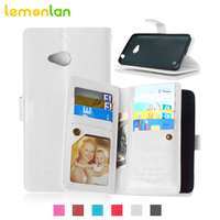 Lemonlan For Microsoft Lumia 640 Phone Case Multi Function Wallet Stand Case For Nokia 640 PU