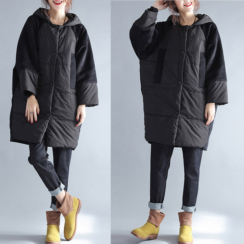 2017Autumn Winter women hooded Wadded coat female plus size warm thick casual long padded jacket outwear parkas loose fit outfit 2017 new winter women wadded jacket outerwear plus size hooded loose thickening casual cotton wadded coat parkas student ws299