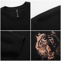 Pioneer Camp thick fleece hoodies men Autumn Winter brand-clothing quality warm male tracksuits Casual tiger Sweatshirt 622181 4