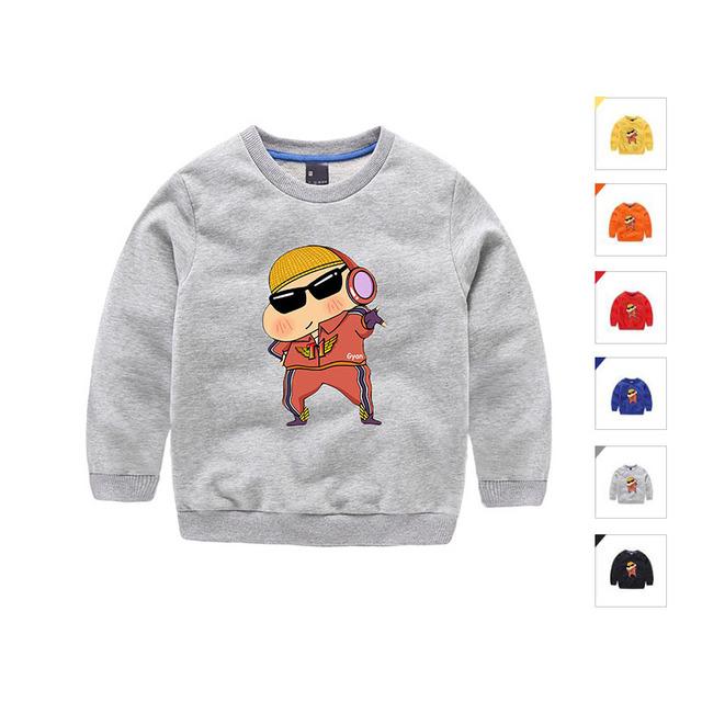 3-10 T Roupa Dos Miúdos Dos Desenhos Animados dos Meninos do Algodão Camiseta Outono Manga Comprida Ropa De Ninas Alta Qualidade Trolls roupas Camiseta Infantil