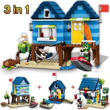 Minha Série Casa de Praia Do Mundo Mente Mundo Oceano Tijolos de Construção De Brinquedos Blocos de Construção Compatível LegoINGLYS Minecrafter 287 Pcs