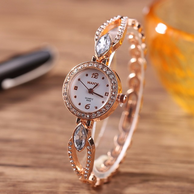 MINHIN New Arrival Bracelet Watch For Ladies Luxury Crystal Wrist Watch Women Al