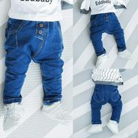 Bambino di autunno della molla dei jeans bambino denim blu tutto il fiammifero del cotone pantaloni casual ragazzi ragazze moda jeans per bambini 1-4 anni