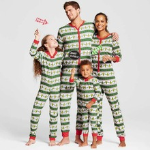 YJSFG HOUSE Family Matching Christmas Striped Piece Pajamas PJs Set Xmas Gift Sleepwear For Men Jumpsuit Family Evening Party