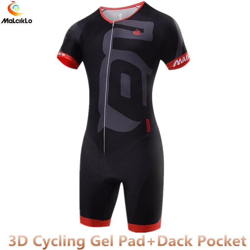 Malciklo High Quality Triathlon Skinsuit Black Cycling Clothing Quick dry Men s Cycling Jersey 2018 Pro