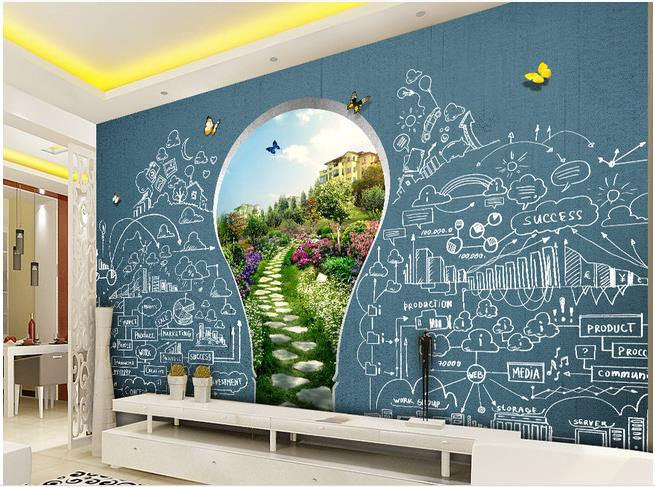 Us 40 0 3d Murals Wallpaper For Living Room School Education Children S Playground Tv Background Wall Background Painting In Wallpapers From Home