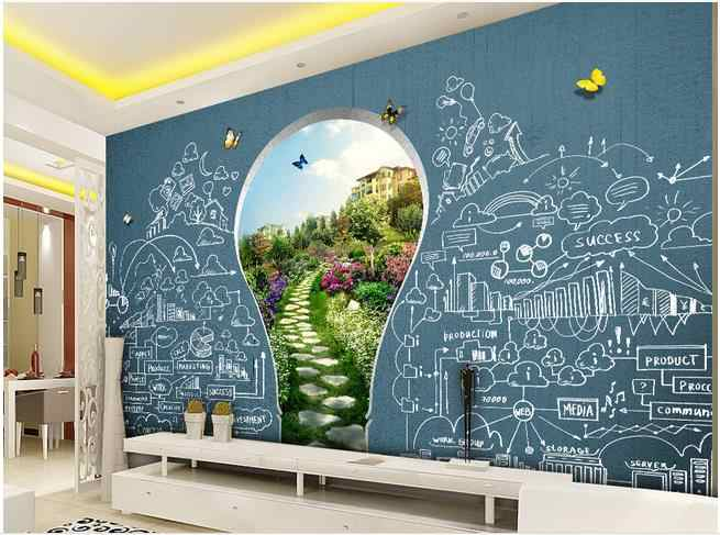 3d Murals Wallpaper For Living Room School Education Children S Playground Tv Background Wall Background Painting Aliexpress