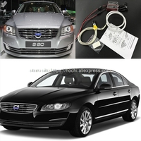 HochiTech Ccfl Angel Eyes Kit White 6000k Ccfl Halo Rings Headlight For Volvo S80 S80L 2012