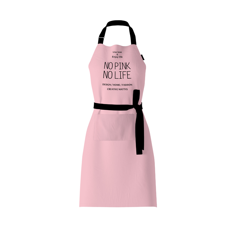 Nordic Wind Girl Pink Cotton Linen Waterproof Apron Coffee Shops And Flower Shops Work Cleaning Aprons For Woman Washing Daidle