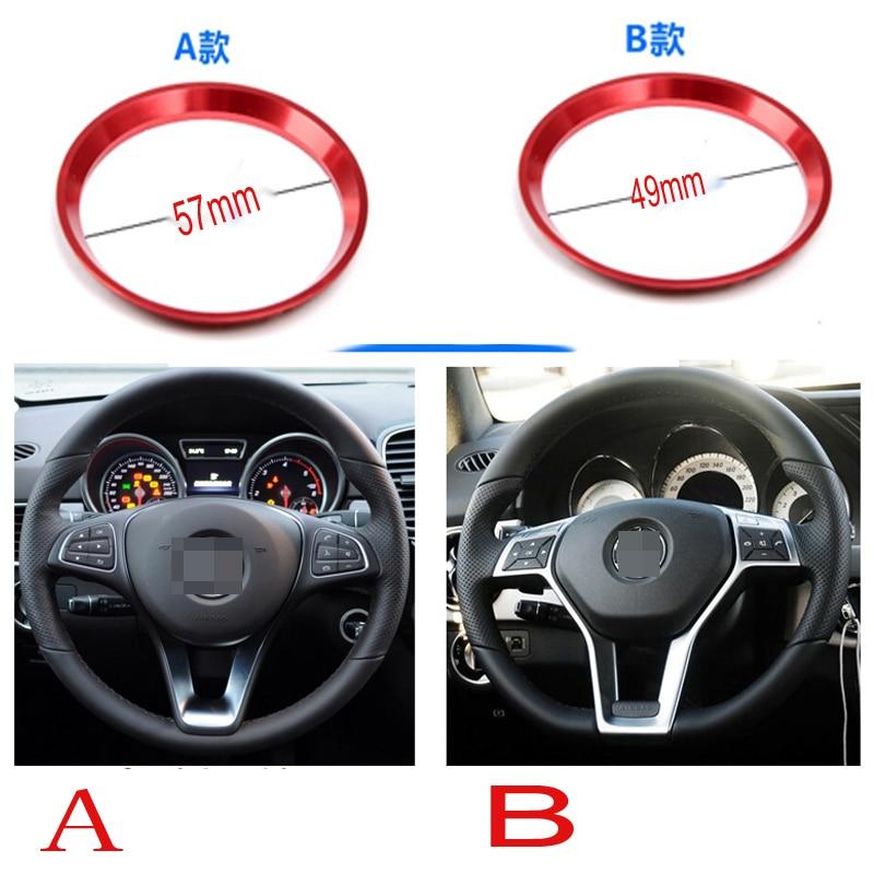 silver Aluminum Alloy Steering Wheel Decoration Ring Trim 1pc For Mercedes Benz CLA GLE GLC B Class W204 W246 W176 W117 C117