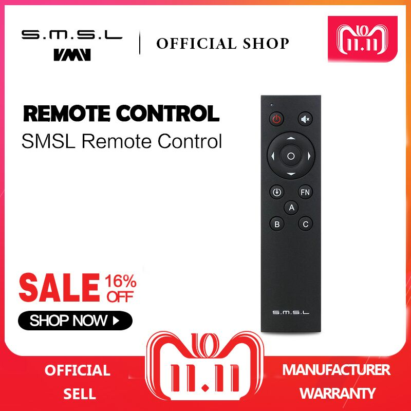 SMSL Audio Amplifier AD18 Q5 A6 DP1 Remote Control усилитель smsl ad18 black