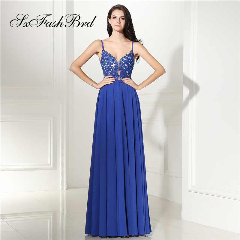 Robe Longue V Neck With Appliques A Line Chiffon Long Formal Elegant   Dresses   for Women Evening Party   Prom     Dress