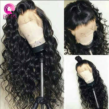 Eva Hair Full Lace Human Hair Wigs Pre Plucked Hairline With Baby Hair Curly Lace Wigs For Black Women Brazilian Remy Hair