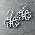 Monogram Earring, Silver Earring in Handmade,  Wedding Earring,  Silver Earring  beautiful  jewery