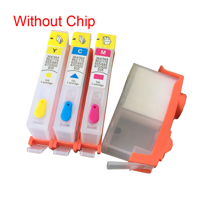 For HP 903 904 905 Refillable Ink Cartridge Without Chip OfficeJet 6950 6956