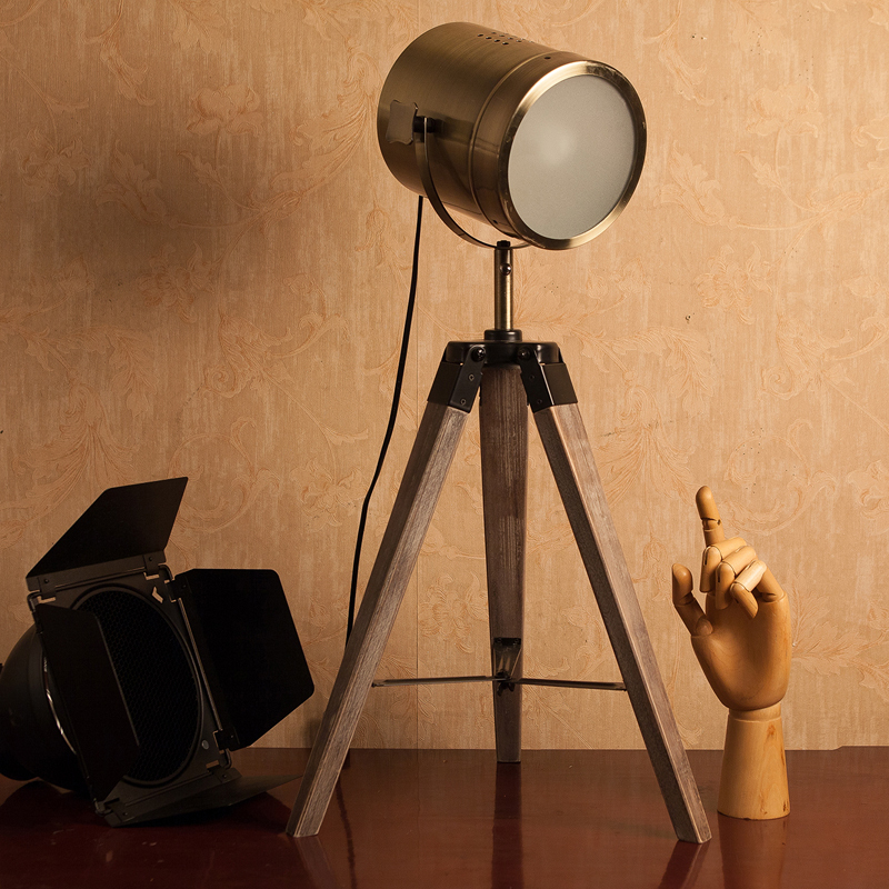 LED Wood tripod Table Search Light Desk Reading Lamp Lamps Lantern,220V 110V