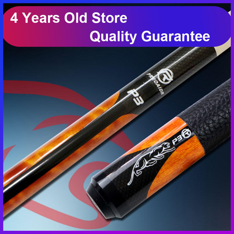 WOLFIGHTER New 3142 Brand P3R Billiards Cue Pool Stick 10mm 11 5mm 13mm Tip 4 Colors