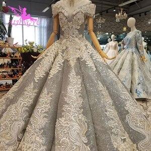 Image 4 - AIJINGYU koronkowe suknie ślubne luksusowe suknie Vintage dojrzałe amerykańskie akcesoria główna ulica prosty długi biały strój na ślub