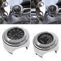 2 pçs/set universal à prova d' água 7/8 relógio da motocicleta guiador black dial relógio temp termômetro para harley yamaha frete grátis