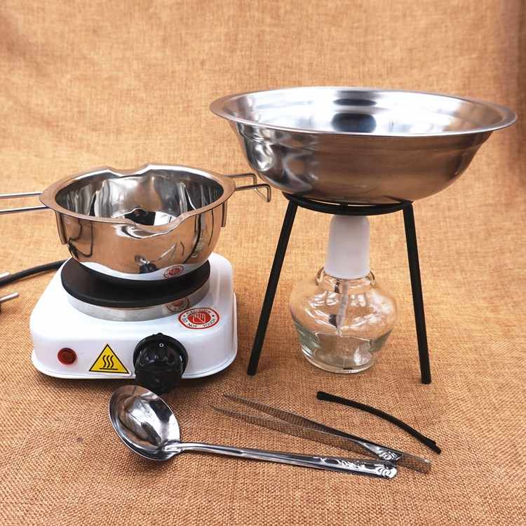 Heating Induction Cooker DIY Handmade Tools Alcohol Lamp Melting Pot Spoons Tweezers DIY Candle Making Heating Tools Accessories