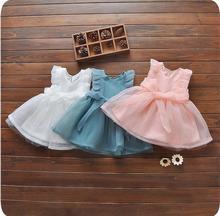 Summer new fashion cute 0-3 year old female baby dress