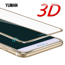 Aluminum alloy Tempered glass phone bag case For iphone 6 6S 5 7 plus Mobile phone Accessories Full screen coverage cover