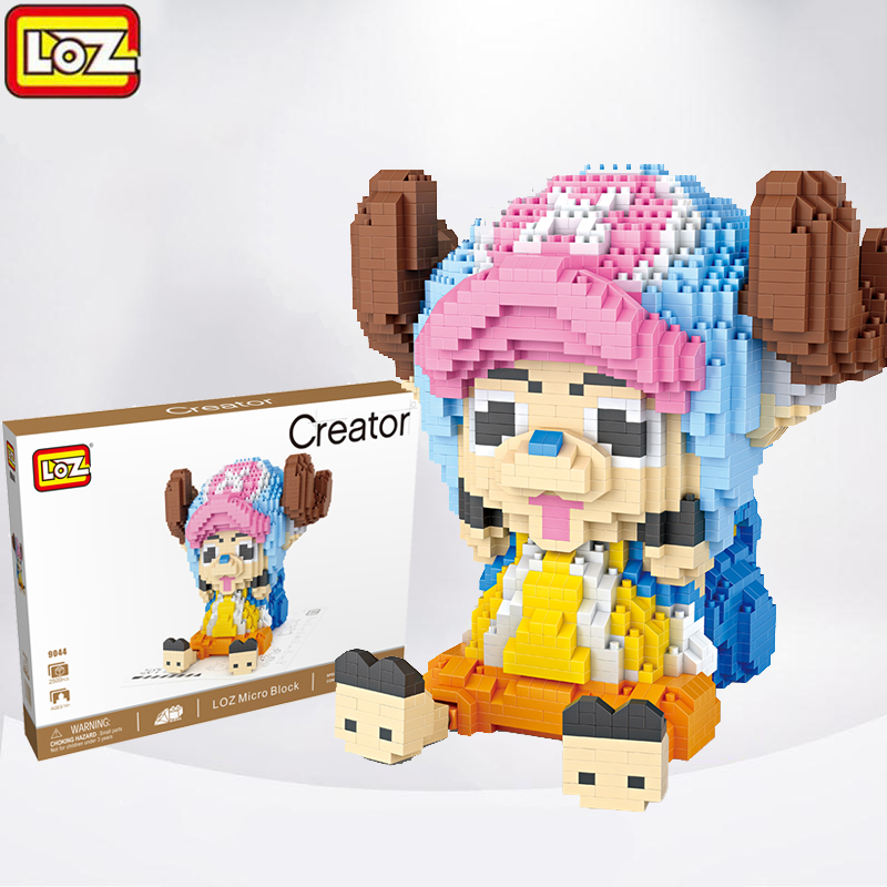 2500PCS LOZ Diamond Building Blocks Mini Anime Figure Chopper Model Assembly Building Bricks Educational Children Toys loz diamond blocks figuras classic anime figures toys captain football player blocks i block fun toys ideas nano bricks 9548