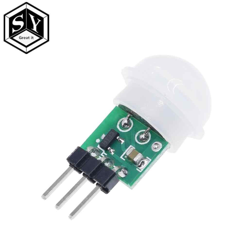 Ótimo que mini ir piroelétrico infravermelho pir movimento sensor humano módulo detector automático am312 sensor dc 2.7 a 12 v