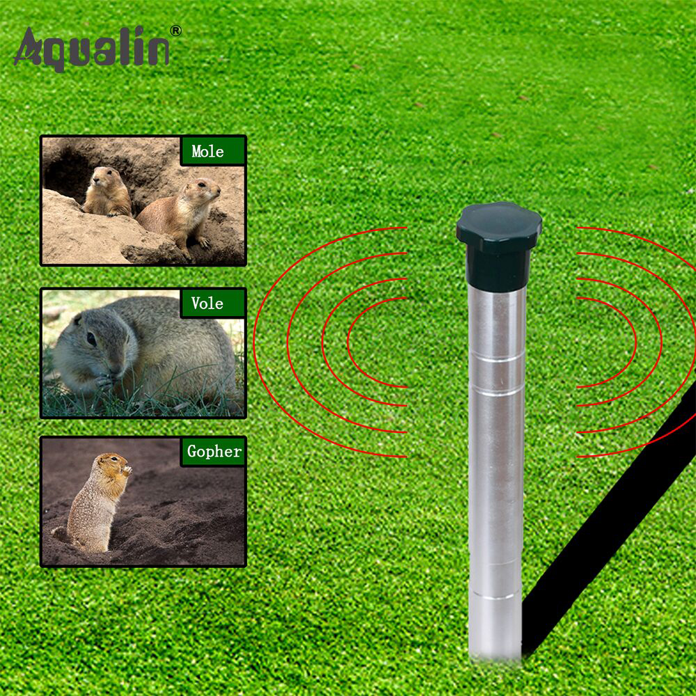 2018 New Arrival Ultrasonic Animal Repeller Mole,Snakes ,Vole,Gopher Repellent <font><b>Pest</b></font> Control for Home,Garden,Lawn #32052