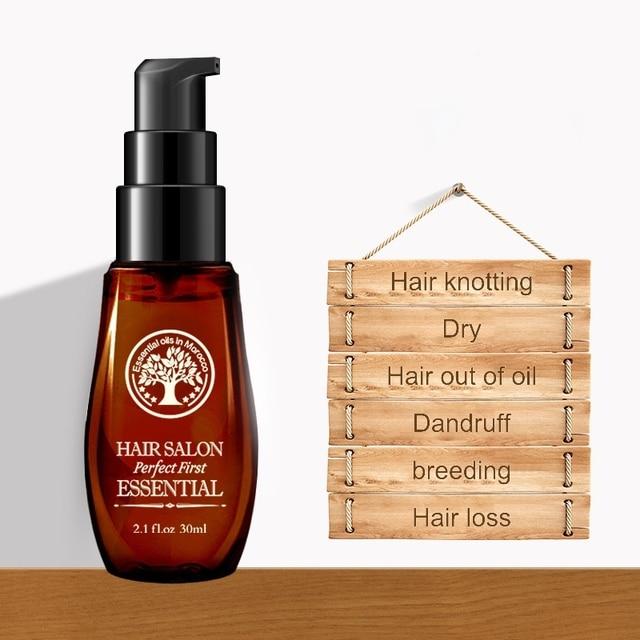 Caliente 30 ml aceite Natural de Marruecos hidratante cabello dañado y mantenimiento profesional seco reparación máscara para el cabello tratamiento de queratina