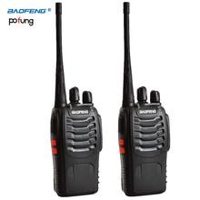 2 UNIDS Baofeng BF-888S Walkie Talkie bf 888 s 5 W UHF de Dos vías de radio CB Radio Portátil 400-470 MHz 16CH Profesional walkie taklie