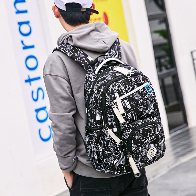 Fengdong 2018 15 Inch School Bag For teenager Boy Travel Bag Waterproof Men Backpack Male Mochila Bagpack Pack Design Anti Theft ...