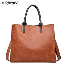 Fashion Women Handbag PU Oil Wax Leather Women Bag Famous Brand Bolsas Feminina Large Capacity Tote Bag Big Ladies Shoulder Bags