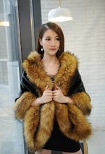 2015 Winter Faux Fur Coats Leather grass fox fur mink rabbit fur poncho cape bridal wedding dress shawl cape women vest fur coat